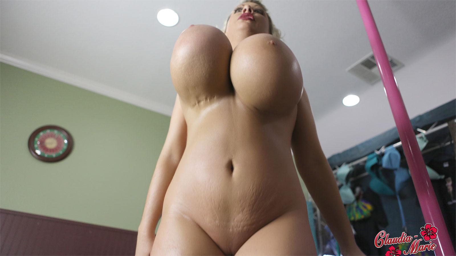 Fake Tits Blonde Interracial